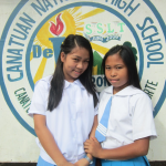 Best friends in life. (From L to R): Subanon students May Anne Lumanjal and Angelica Tumangkis are aware of their responsibility to protect the environment and understand that it should start from one's self -  to avert climate change.