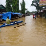 Soaked in water. Close to 3,000 residents flee from their homes in search of safer ground as flood water submerged crops and several houses while landslides isolated the town from the rest of Zamboanga Peninsula.