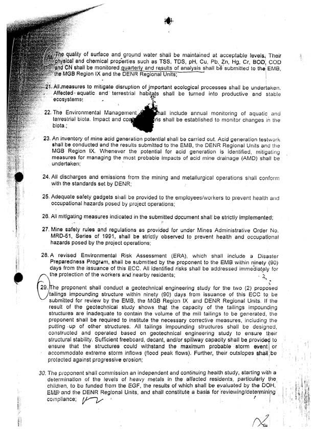 ENVIRONMENTAL COMPLIANCE CERTIFICATE(ECC) 002