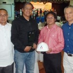 Safety first.  TVIRD Safety Manager Arturo Abad and Safety Officer Kurt Abad (2nd and 3rd from Left, respectively) with COO Yulo Perez at the awarding ceremonies. Joining them is DOLE Regional Director for Region 9 Sisenio Cano.